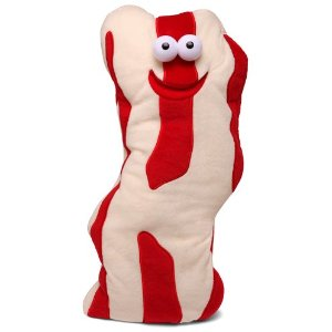 Who wouldn't want to hug a slab of bacon?