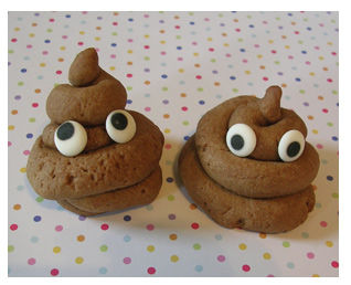 Poop.  Not cute.  Poop with eyes.  Adorable.