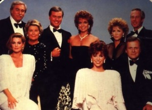 "The women of TV's ""Dallas"" sported linebacker shoulder-padding that made their heads look rather pin-like."