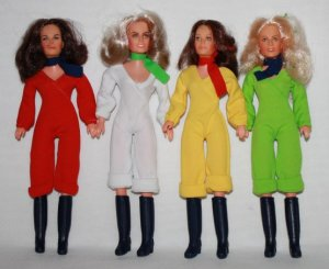 I know that I've always said I hated dolls.  I should say that I hated non-Barbie like dolls.  Charlie's Angels were cool.