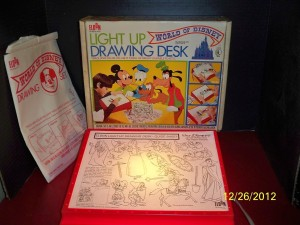 My Mickey Mouse tracing desk.  I'm sensing a Mickey theme here.