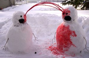 If snow was always red, this wouldn't be funny.