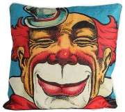 clown pillow cheshire cat grin