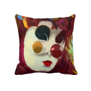 clown pillow impressionist