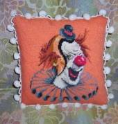clown pillow pom pom fringe