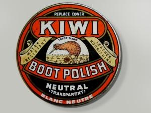 A retro Kiwi tin.