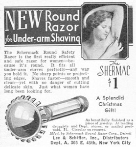 A 1933 armpit hair removal device.  Yikes.